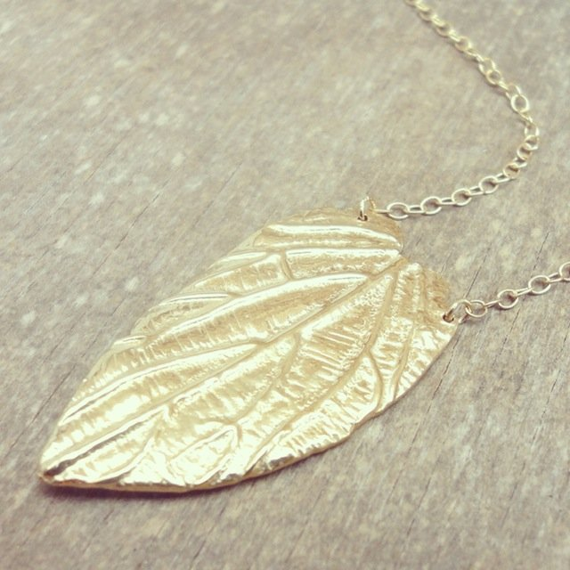 Leaf necklace by Tanja Ting