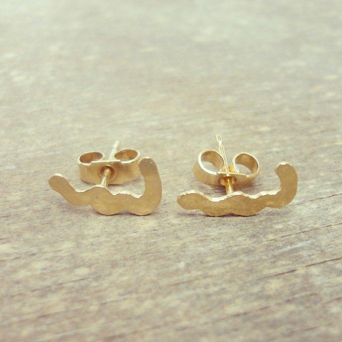 Wave earrings by Tanja Ting