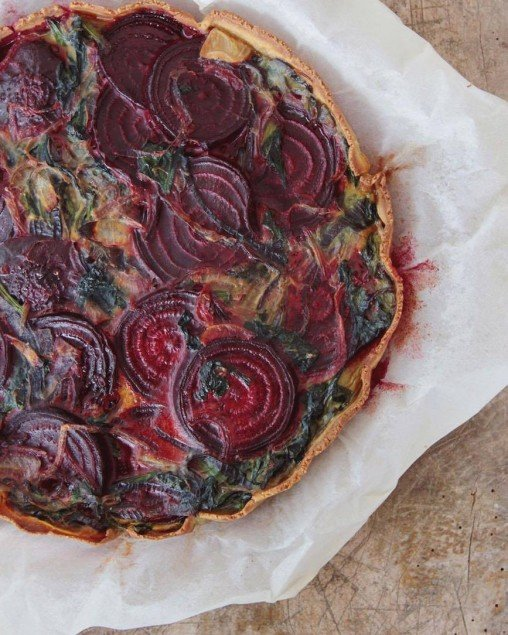 Beetroot quiche by Tanja Ting