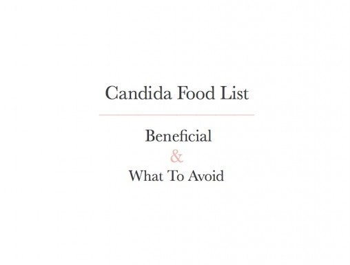 Candida food list by Tanja Ting