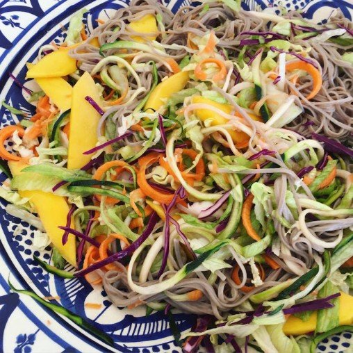 Buckwheat noodle salad by Tanja Ting